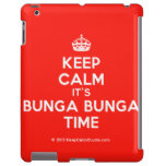 [Crown] keep calm it's bunga bunga time  iPad 2/3/4 Cases