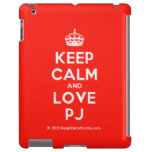 [Crown] keep calm and love pj  iPad 2/3/4 Cases