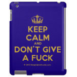 [Dancing crown] keep calm and don't give a fuck  iPad 2/3/4 Cases