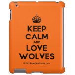 [Crown] keep calm and love wolves  iPad 2 3 4 Cases