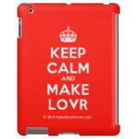[Crown] keep calm and make lovr  iPad 2/3/4 Cases