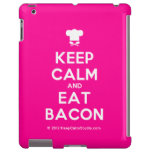 [Chef hat] keep calm and eat bacon  iPad 2/3/4 Cases