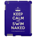 [Knitting crown] keep calm and swim naked  iPad 2 3 4 Cases