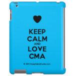 [Love heart] keep calm and love cma  iPad 2/3/4 Cases