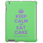 [Crown] keep calm and eat cake  iPad 2/3/4 Cases
