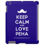 [Moustache] keep calm and love peha  iPad 2/3/4 Cases