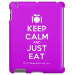 [Cutlery and plate] keep calm and just eat  iPad 2/3/4 Cases