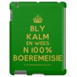 [Crown] bly kalm en wees n 100% boeremeisie  iPad 2/3/4 Cases