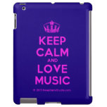 [Dancing crown] keep calm and love music  iPad 2/3/4 Cases