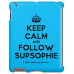 [Crown] keep calm and follow supsophie  iPad 2/3/4 Cases