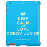 [Crown] keep calm and love coboy junior  iPad 2 3 4 Cases