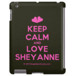 [Two hearts] keep calm and love sheyanne  iPad 2/3/4 Cases