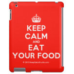 [Crown] keep calm and eat your food  iPad 2/3/4 Cases