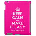 [Crown] keep calm and make it easy  iPad 2/3/4 Cases