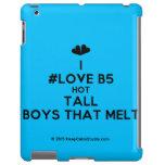 [Two hearts] i #love b5 hot tall boys that melt  iPad 2/3/4 Cases