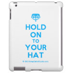 [Crown upside down] hold on to your hat  iPad 2/3/4 Cases