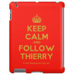 [Crown] keep calm and follow thierry  iPad 2/3/4 Cases