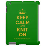 [Knitting crown] keep calm and knit on  iPad 2/3/4 Cases