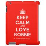 [Crown] keep calm and love robbie  iPad 2/3/4 Cases