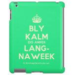 [Crown] bly kalm dis amper lang- naweek  iPad 2/3/4 Cases