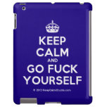 [Crown] keep calm and go fuck yourself  iPad 2/3/4 Cases