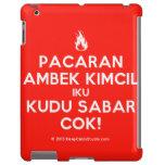 [Campfire] pacaran ambek kimcil iku kudu sabar cok!  iPad 2/3/4 Cases