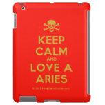 [Skull crossed bones] keep calm and love a aries  iPad 2 3 4 Cases