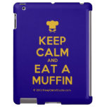 [Chef hat] keep calm and eat a muffin  iPad 2/3/4 Cases