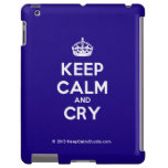 [Crown] keep calm and cry  iPad 2 3 4 Cases