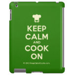 [Chef hat] keep calm and cook on  iPad 2/3/4 Cases
