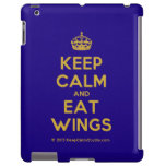 [Crown] keep calm and eat wings  iPad 2/3/4 Cases