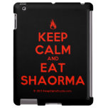 [Campfire] keep calm and eat shaorma  iPad 2/3/4 Cases