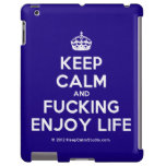 [Crown] keep calm and fucking enjoy life  iPad 2 3 4 Cases