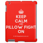 [Crown] keep calm and pillow fight on  iPad 2/3/4 Cases