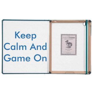 iPad 2/3/4 DODOcase, azul (guarde la calma y el