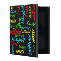 iPad 2, 3, 4 Folio Case, Repeating Names iPad Case