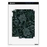 IPad 2 case doodle flowers iPad 2 Skins