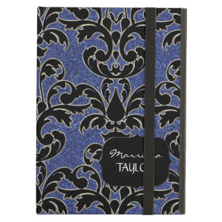 IPad 2 - Glitter Floral Leaf Swirl Damask Bling Case For iPad Air