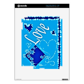 iPad 2 (Wi-Fi/Wi-Fi + 3G) Skin with Blue Abstract Skins For iPad 2