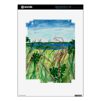 iPad 2 (Wi-Fi/Wi-Fi + 3G) Skin with Seascape Decals For The iPad 2