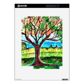 iPad 2 (Wi-Fi/Wi-Fi + 3G) Skin with Tree Art iPad 2 Skin