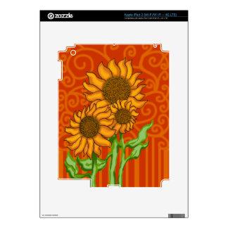 iPad 3 Skin/Sunflower Trio Decal For iPad 3