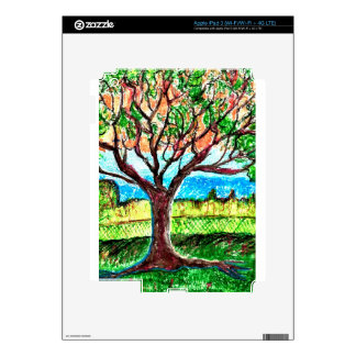 iPad 3 (Wi-Fi/Wi-Fi + 4G LTE) Skin with Tree Art Skin For iPad 3