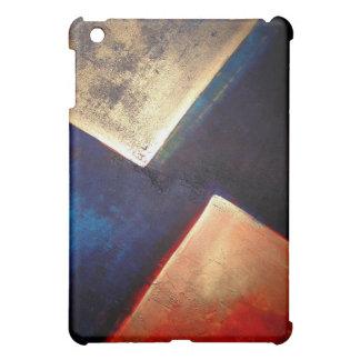 iPad abstracto de oro azul rojo geométrico de los