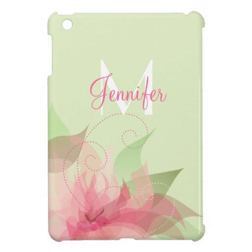 iPad abstracto floral del monograma mini