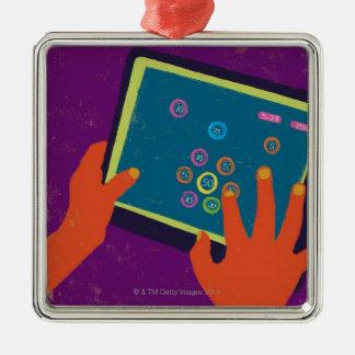 iPad Adorno Navideño Cuadrado De Metal