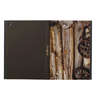 iPad Air 2 Case, Rusty Wagon Wheels, Brown Back Powis iPad Air 2 Case