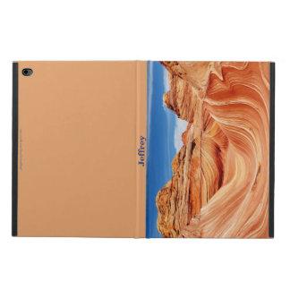 """iPad Air 2 Case, """"The Wave"""", Tan Back Powis iPad Air 2 Case"""