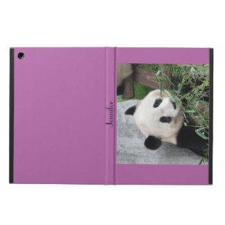 iPad Air Case, Giant Panda, Purple iPad Air Cases