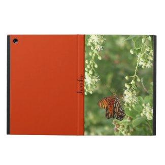 iPad Air Case, Orange Butterfly, Orange Back